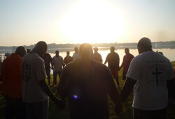 Boy & Men Sunrise Prayer